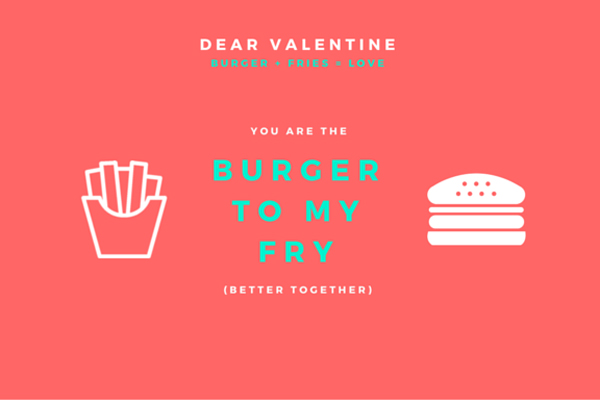 French Fry Valentine Template
