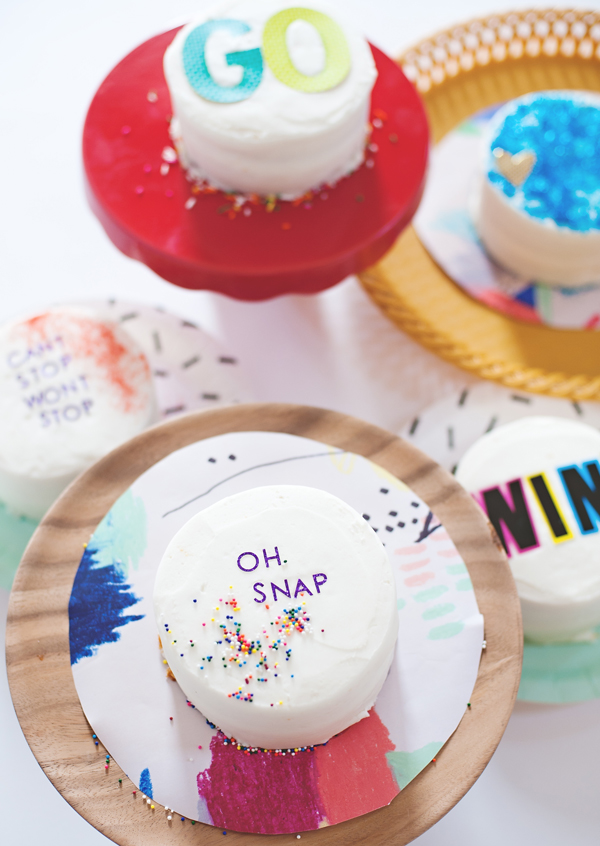 Decorate a Cake With Stickers