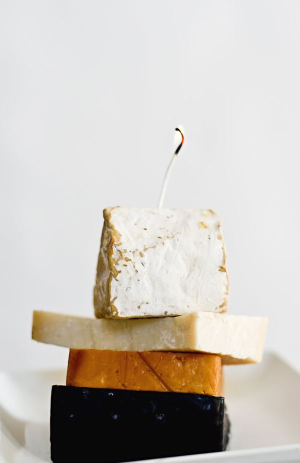 You can make a candle out of the wax rind of cheese!