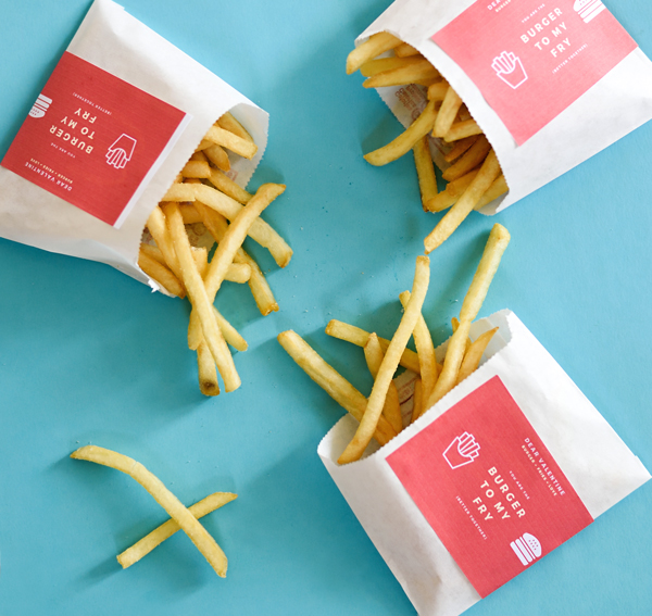 French Fry Valentines