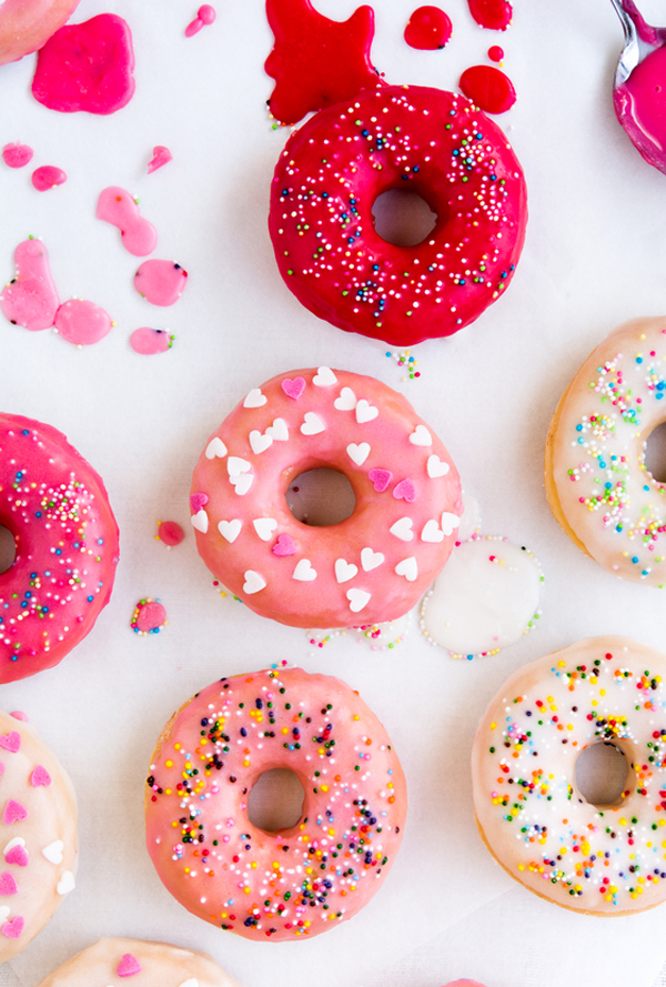 DIY colorful how to make donut glaze for donuts