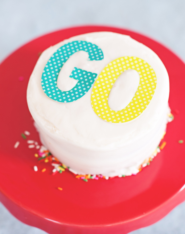 Decorate A Cake With Stickers A Subtle Revelry