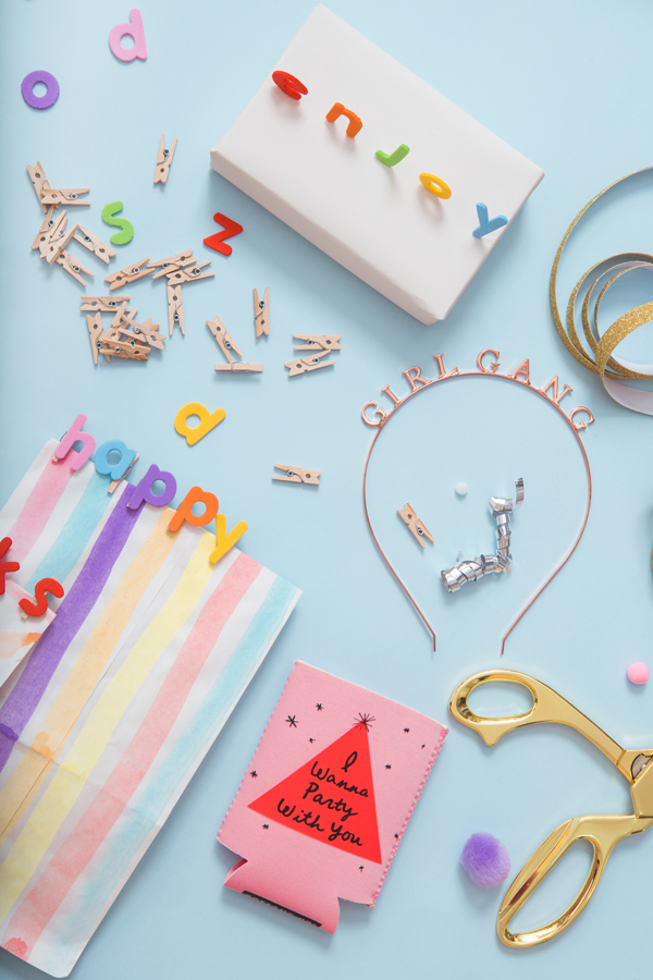Letter Wrapping Toppers