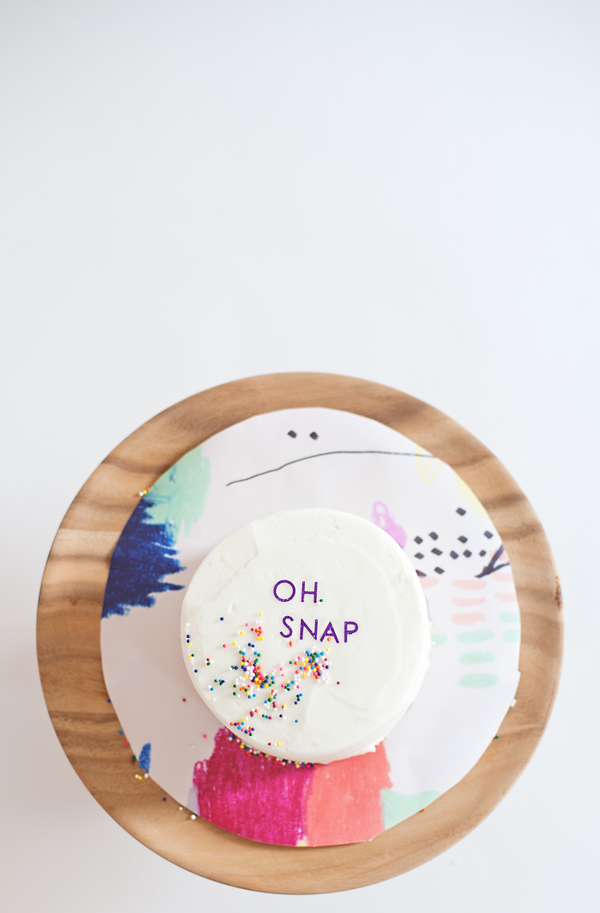 Oh Snap! Decorate a Cake With Stickers