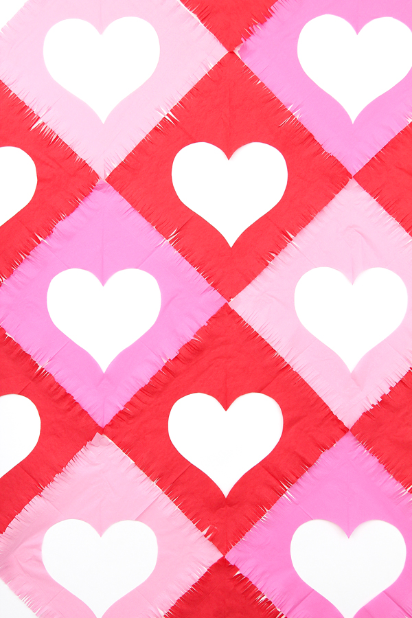 Fringe napkin heart backdrop