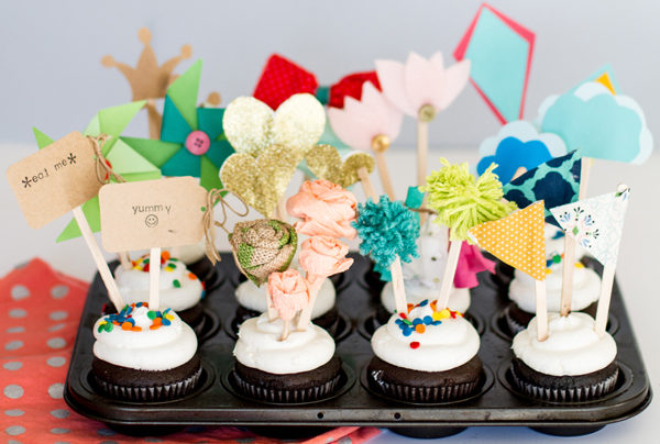 paper cupcake toppers