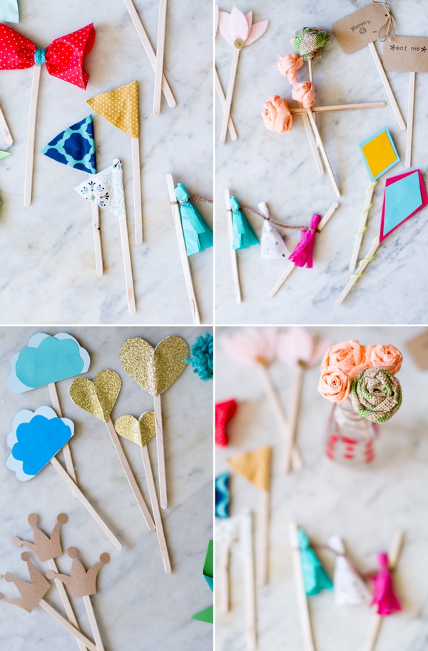 Easy DIY Cupcake Toppers