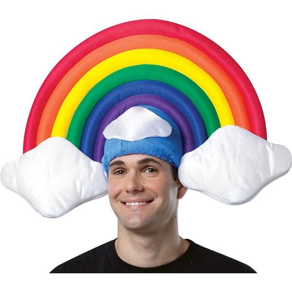 hilarious rainbow hat
