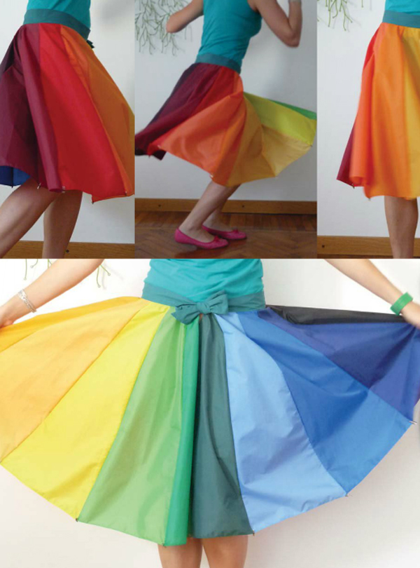 rainbow umbrella skirt