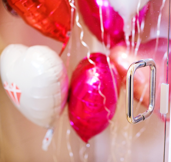 Valentine day Balloon Shower Surprise for husband