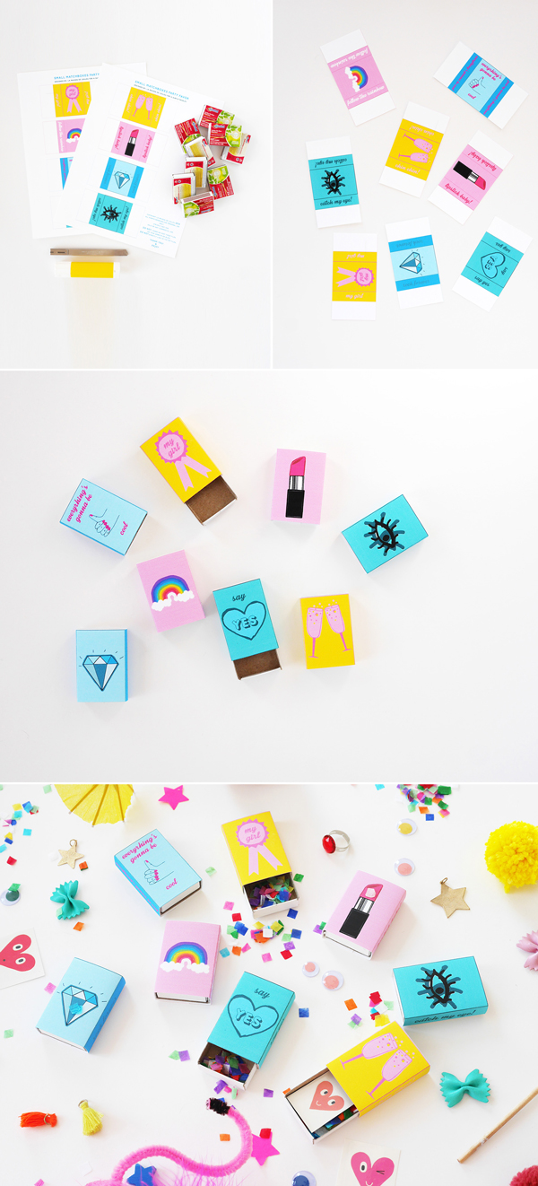 How to make Matchbox Party Favors