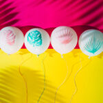 Dreamy Pastel Palm Balloons
