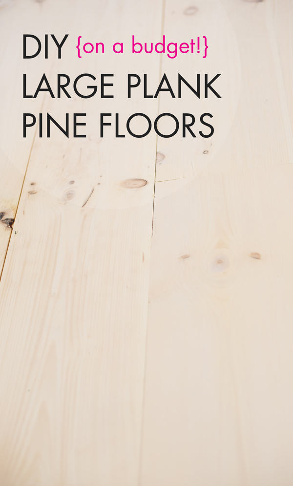 DIY White Washed Wide Plank Wood Floors