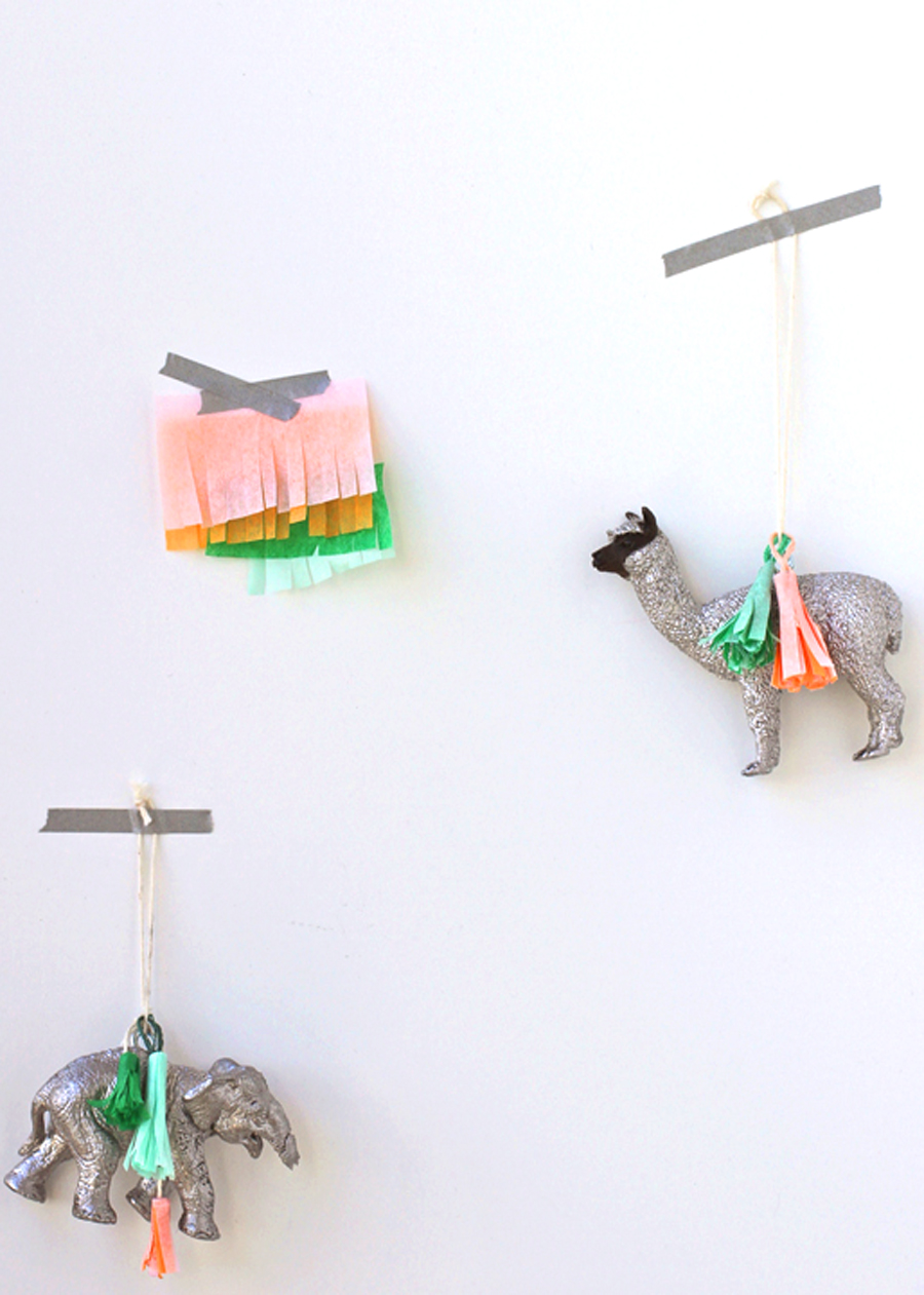 Glittered toy animals