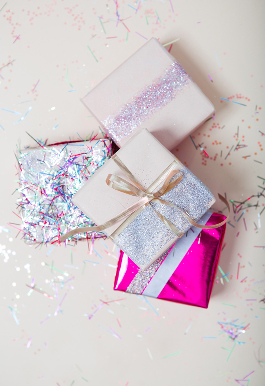 glitter and sparkle wrapping