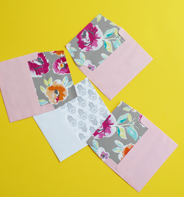 wrapping paper envelopes