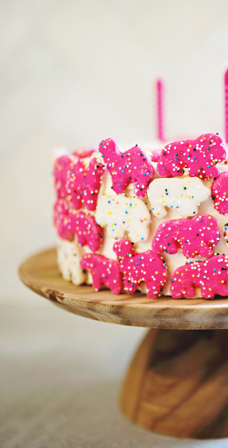 Animal Cookie Birthday Cake • A Subtle Revelry