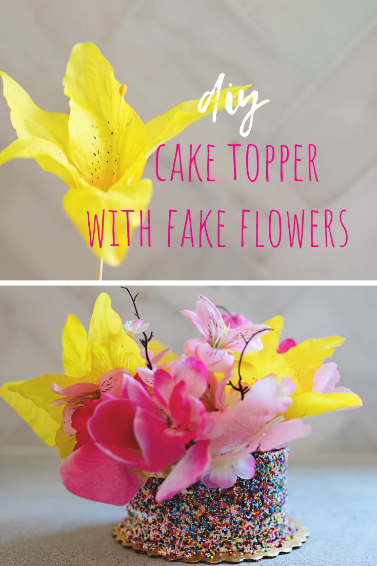How To Make A Cake Topper With Silk Flowers A Subtle Revelry