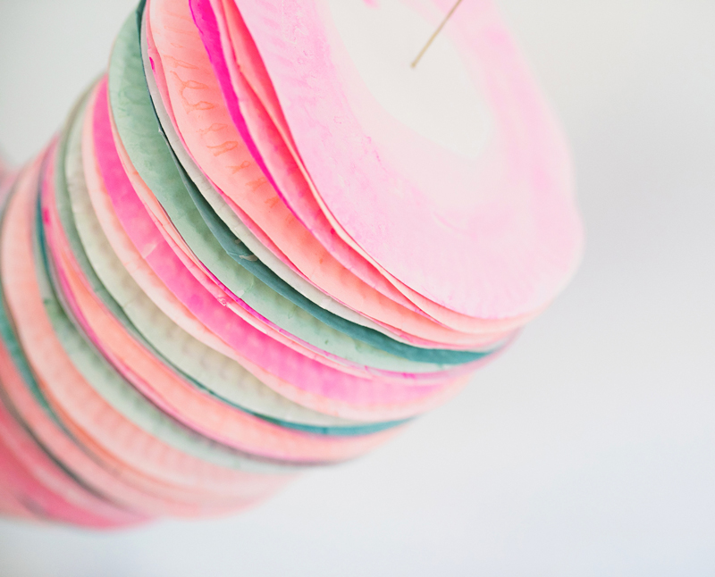 Painted Paper Plate Garland