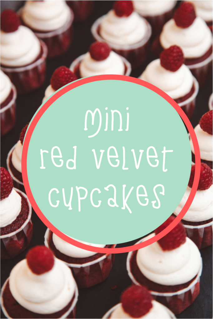 Mini red velvet cupacakes