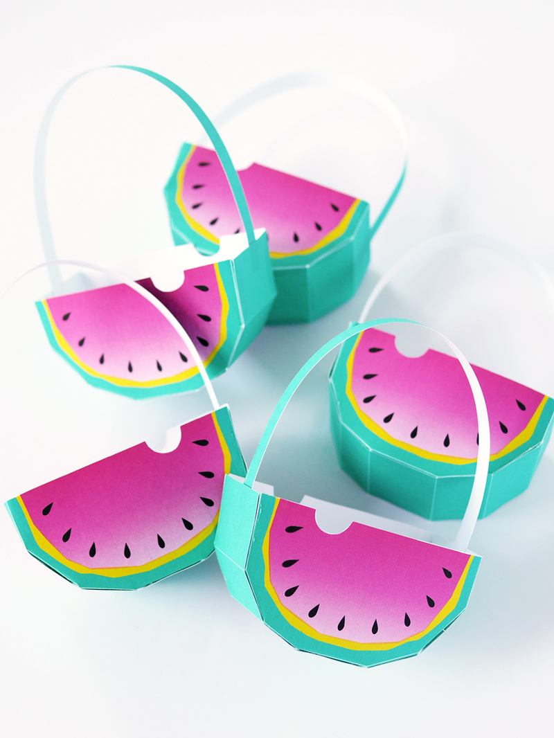 Watermelon Favor Baskets