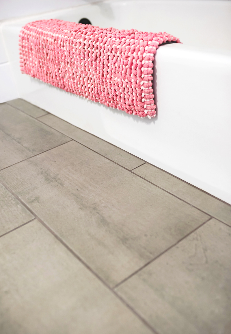 Shiplap + The Prettiest Tile In Our Guest Bathroom • A Subtle Revelry