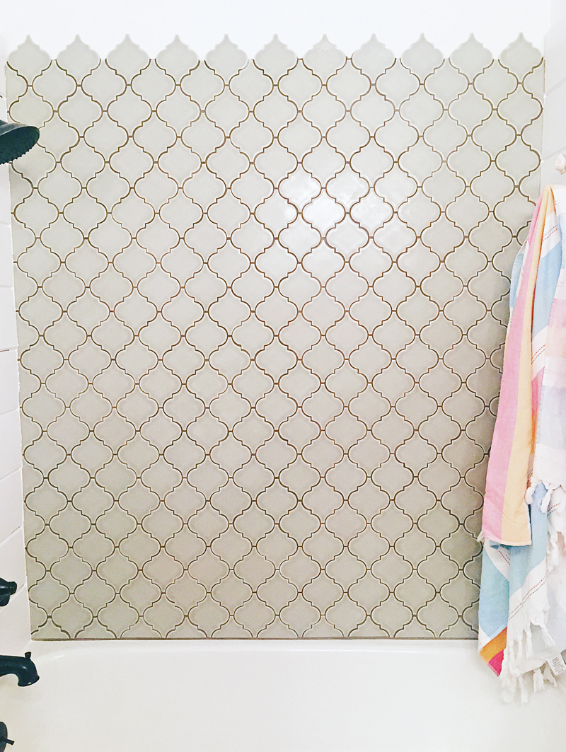Shiplap The Prettiest Tile In Our Guest Bathroom A