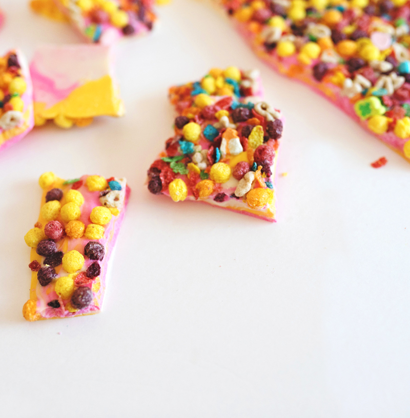 Cereal Bark Latte Treats