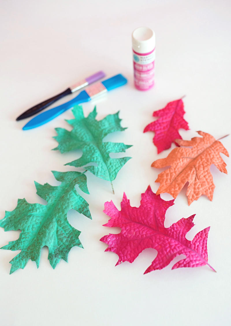 Bright Painted Leaves