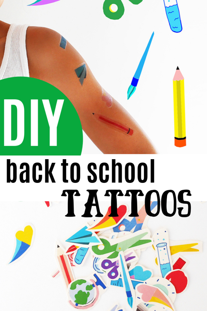DIY back to school tattoos