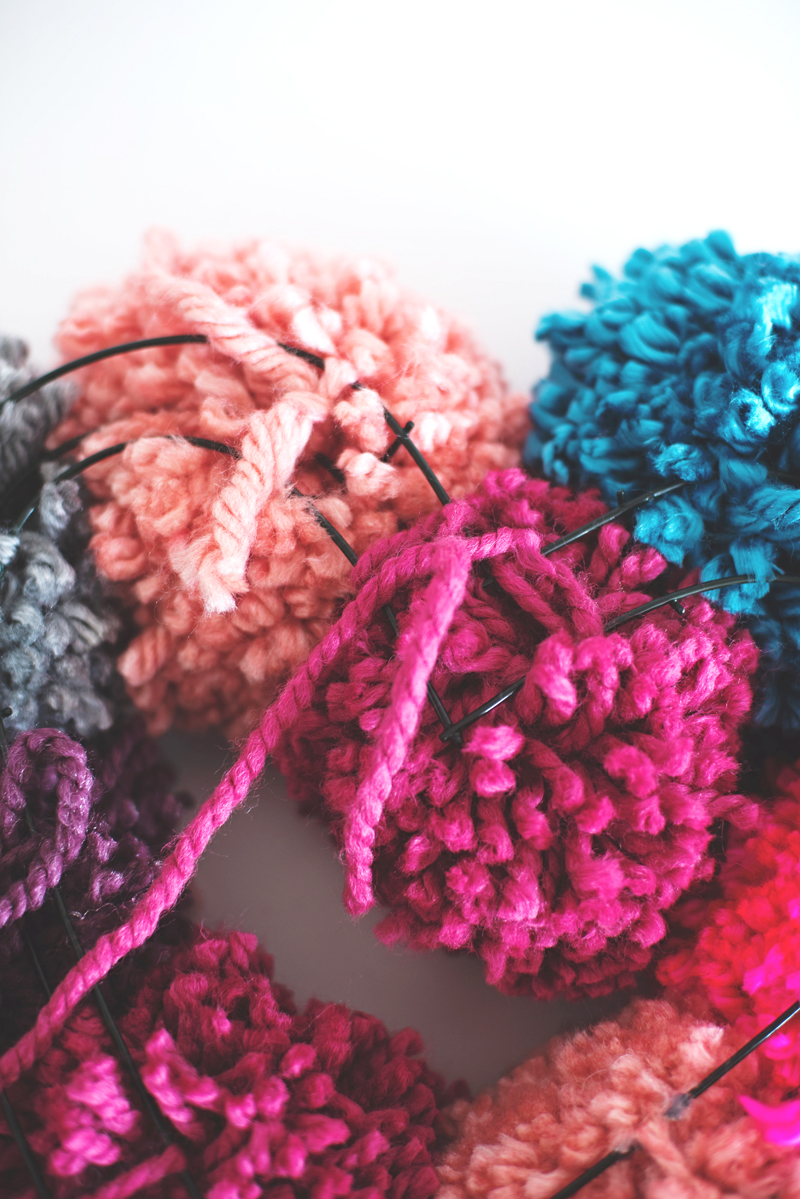 Pompom Yarn Wreath
