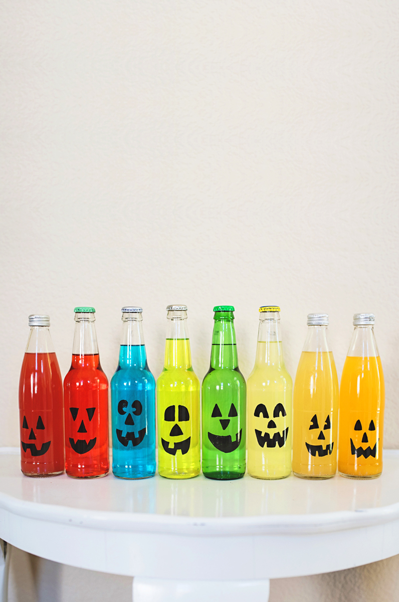 Rainbow Jack-O-Lantern Soda Bar