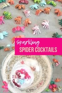 Sparkling Spider Cocktails