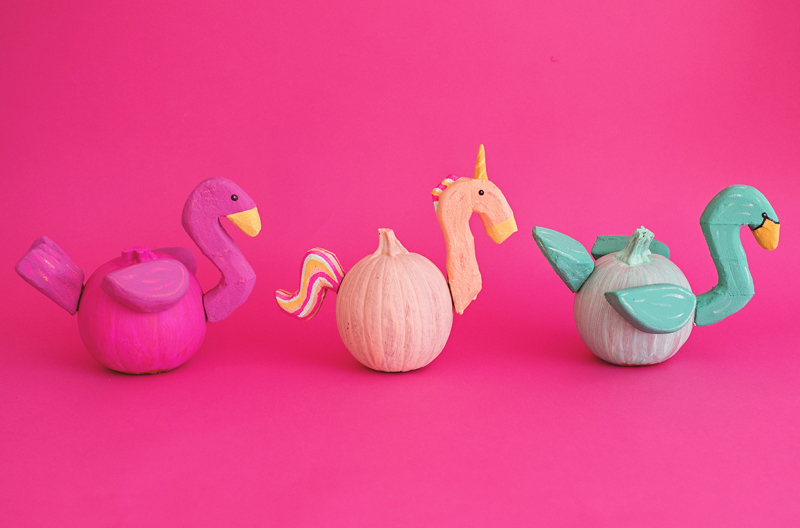 Animal Pool Float Pumpkins