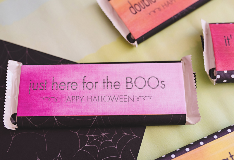 Punny Candy Wrappers For Halloween