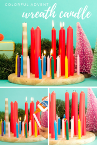 Colorful Advent Wreath Candle