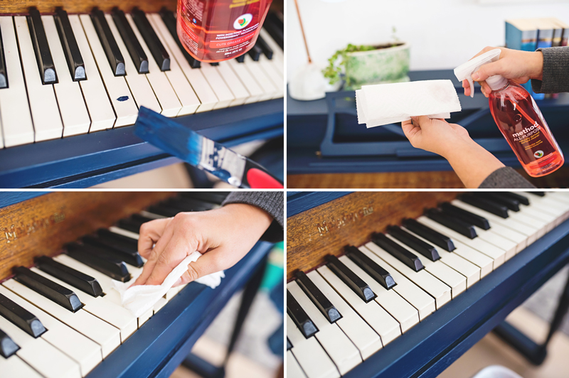 Piano painting step by step