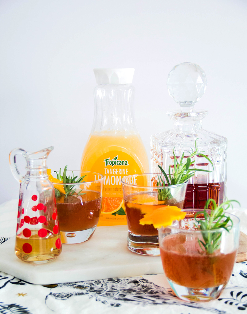 Rosemary Tangerine Sidecar Cocktail
