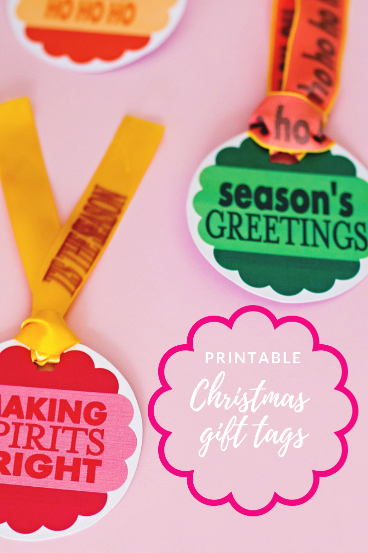 Printable Christmas Gift Tags (With Free PDF!) • A Subtle Revelry