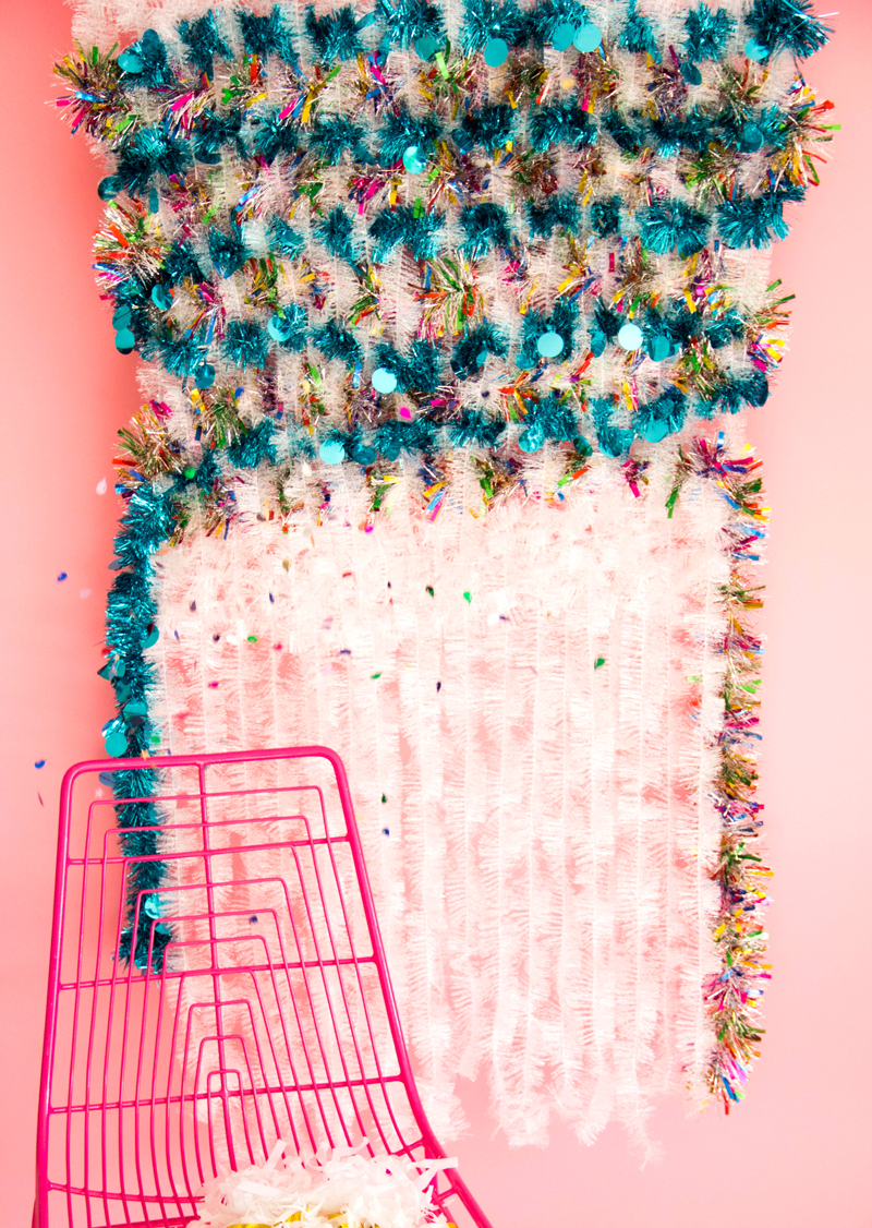 Tinsel Weave Wall Hanging A Subtle Revelry