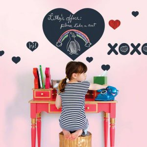chalkboard heart wall