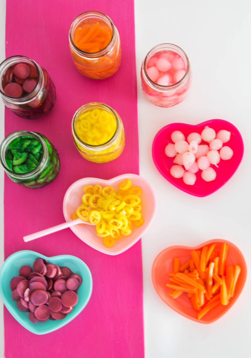 Rainbow Pickled Veggies