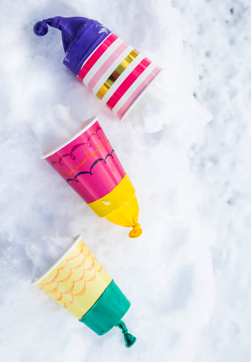 Paper Cup Snowball Shooters