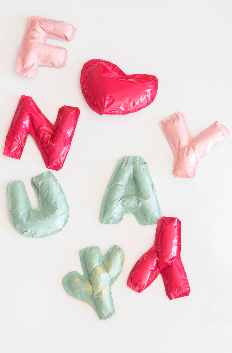 Mini Foil Balloons DIY