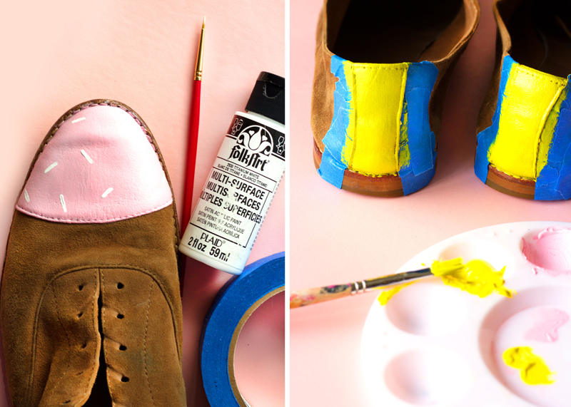Birthday Cake Shoe Makeover