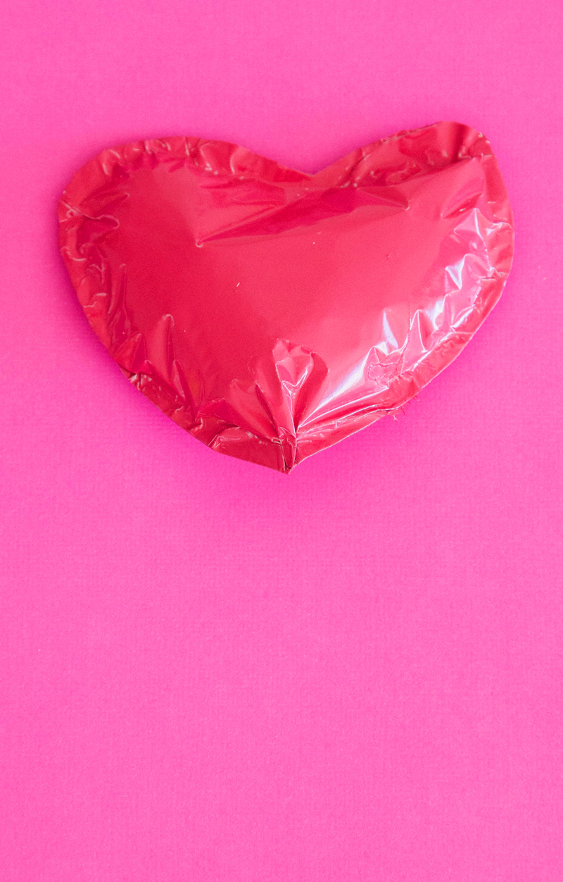 Mini Foil Heart Balloon