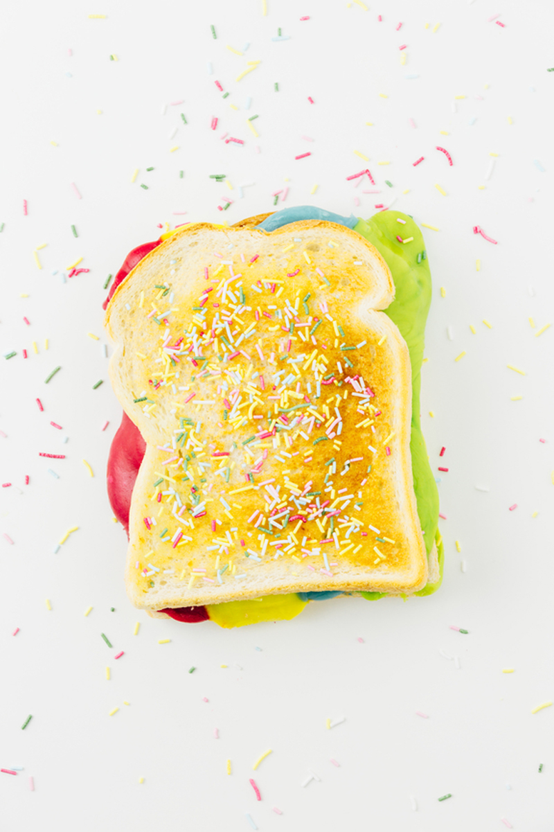 DIY Rainbow Grilled Cheese