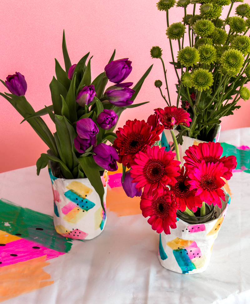 Paper mache diy flower vase a subtle revelry paper mache diy flower vase mightylinksfo