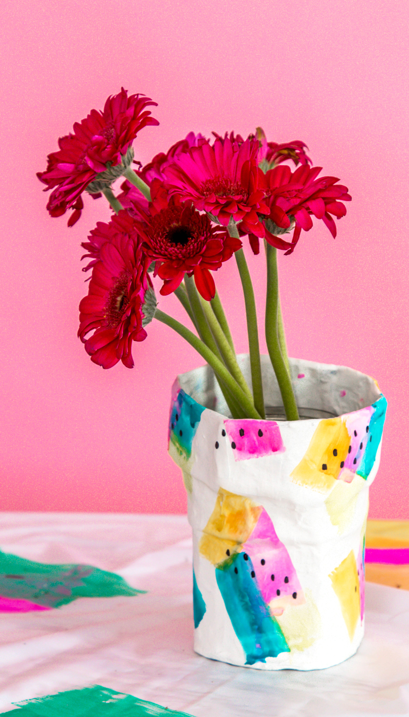 Paper mache diy flower vase a subtle revelry paper mache craft ideas mightylinksfo