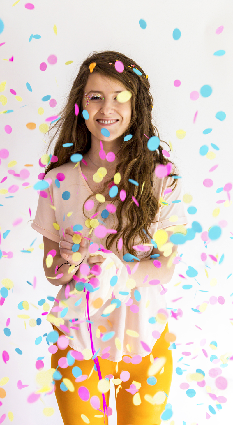 How to wear confetti